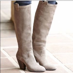 Sole Society So Rumer Pull On Knee High Boots Tan